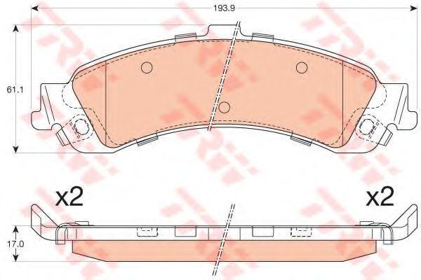 Колодки тормозные TRW GDB4454