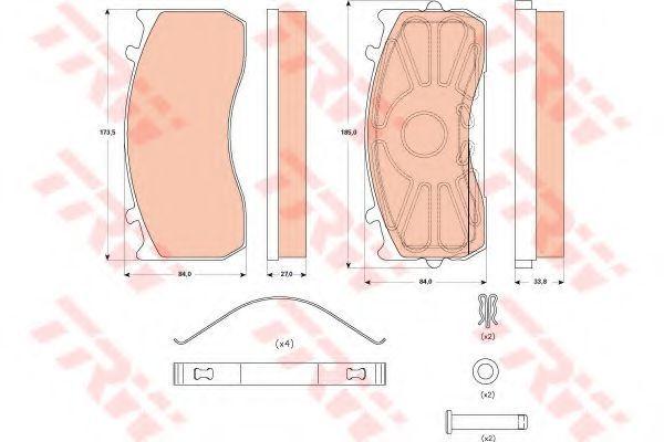 Изображение Колодки тормозные TRW GDB 5073: стоимость