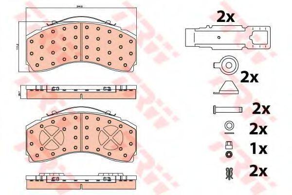 Колодки тормозные TRW GDB5111