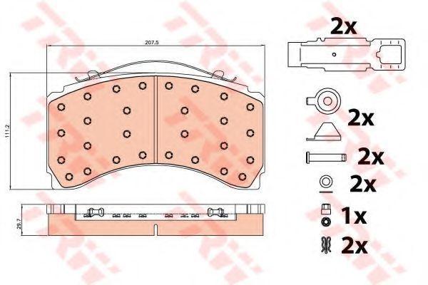Колодки тормозные TRW GDB5116