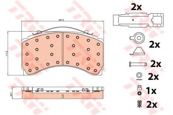 Колодки тормозные TRW GDB5117