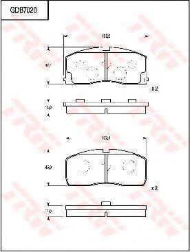 Комплект тормозных колодок, дисковый тормоз TRW GDB7020