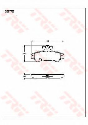Комплект тормозных колодок, дисковый тормоз TRW GDB7790