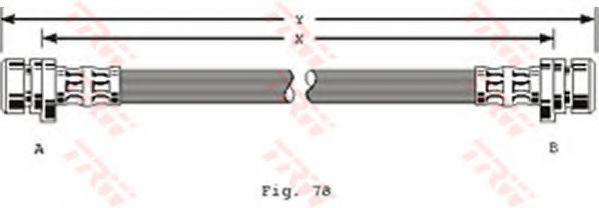 Шланг тормозной TRW PHA185