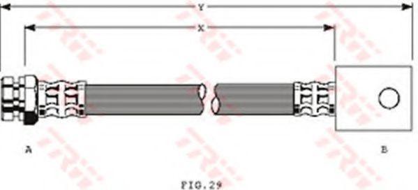 Шланг тормозной TRW PHA320