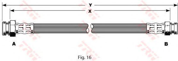 Шланг тормозной TRW PHA 322