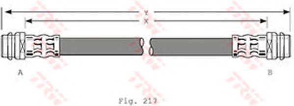 Шланг тормозной TRW PHA 341