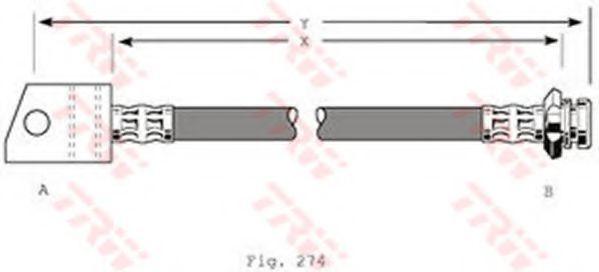 Шланг тормозной TRW PHA348