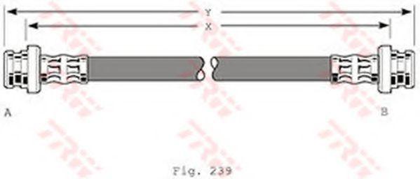 Шланг тормозной TRW PHA360
