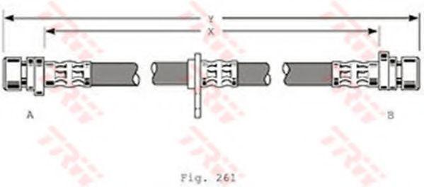 Шланг тормозной TRW PHA 367