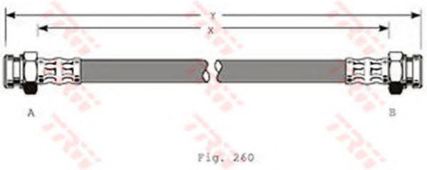 Тормозной шланг TRW PHA368