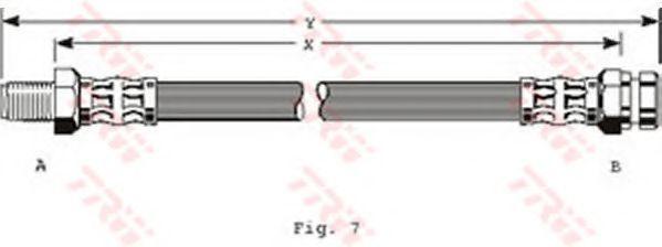 Шланг тормозной TRW PHB115