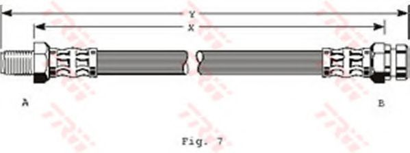 Шланг тормозной TRW PHB165