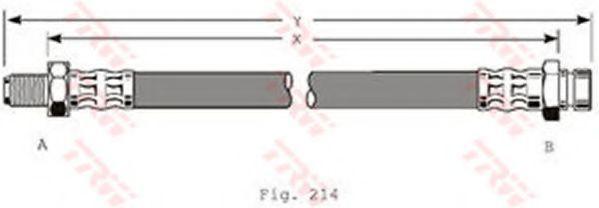 Шланг тормозной TRW PHB169