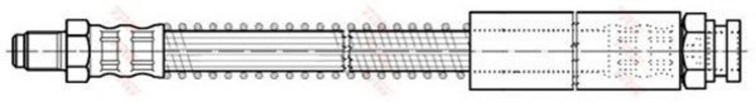 Шланг тормозной TRW PHB 185