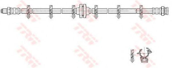 Шланг тормозной TRW PHB223