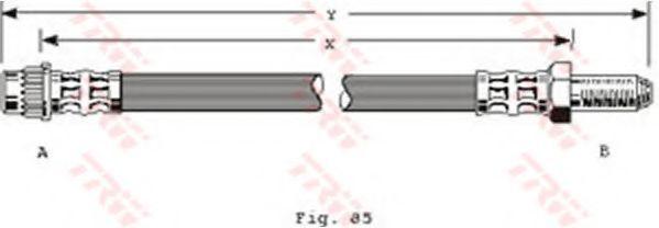 Шланг тормозной TRW PHB295