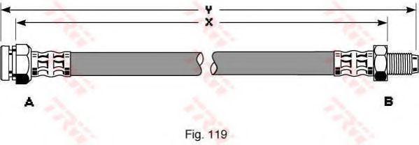 Шланг тормозной TRW PHB 299