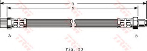 Шланг тормозной TRW PHB372