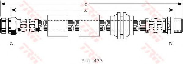 Шланг тормозной TRW PHB 440