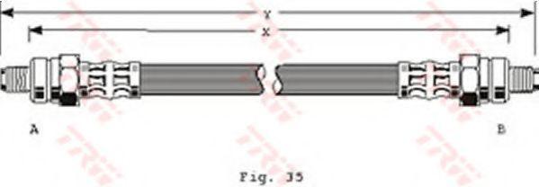 Шланг тормозной TRW PHC 113