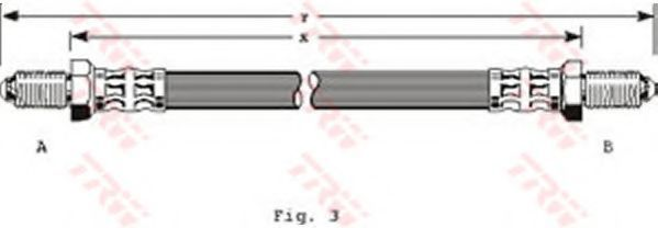 Шланг тормозной TRW PHC133