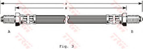 Шланг тормозной TRW PHC200