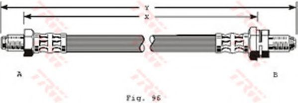 Шланг тормозной TRW PHC204