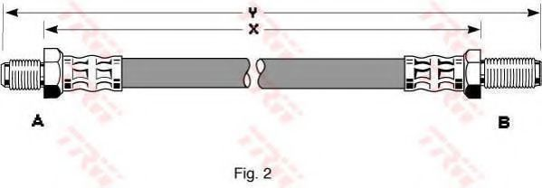 Шланг тормозной TRW PHC205
