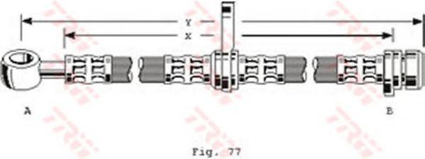 Шланг тормозной TRW PHD101