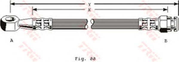 Шланг тормозной TRW PHD111