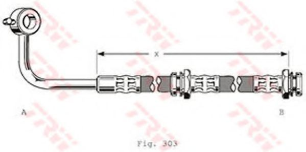 Тормозной шланг TRW PHD120