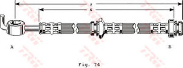Тормозной шланг TRW PHD123