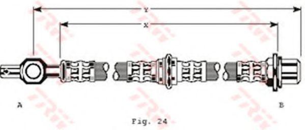 Тормозной шланг TRW PHD125
