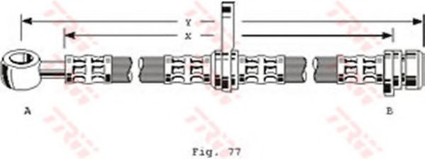 Шланг тормозной TRW PHD254