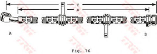Шланг тормозной TRW PHD255