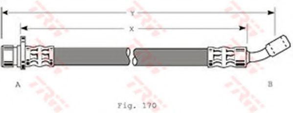 Шланг тормозной TRW PHD 259