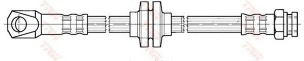Шланг тормозной TRW PHD276
