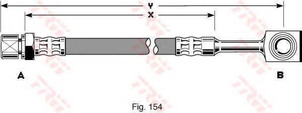 Шланг тормозной TRW PHD288