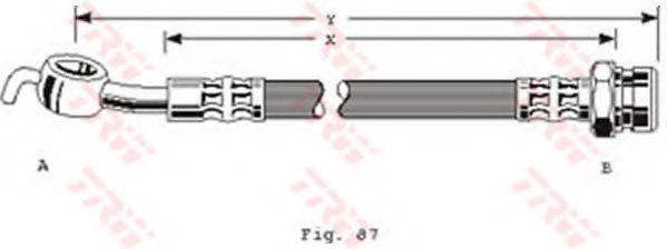 Шланг тормозной TRW PHD290