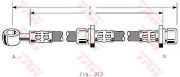 Шланг тормозной TRW PHD318