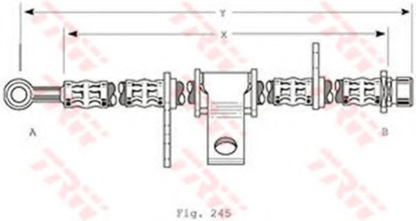 Тормозной шланг TRW PHD368
