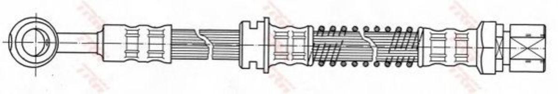 Шланг тормозной TRW PHD 421