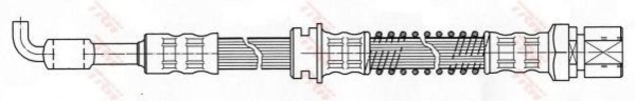 Шланг тормозной TRW PHD 422