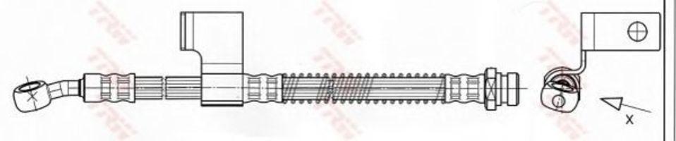 Шланг тормозной TRW PHD531