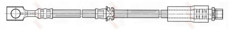 Шланг тормозной TRW PHD538
