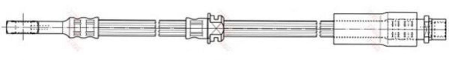 Шланг тормозной TRW PHD673