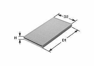 Фильтр, воздух во внутренном пространстве CLEAN FILTERS NC2061