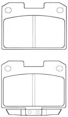 Комплект тормозных колодок, дисковый тормоз AISIN ASN2043
