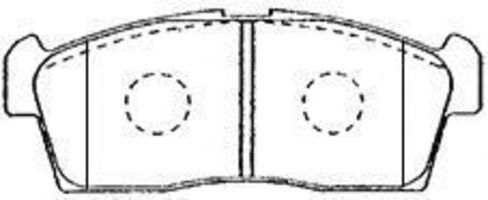 Комплект тормозных колодок, дисковый тормоз AISIN H1N009